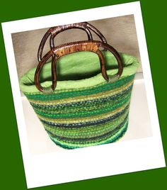 Hand Knit & then Felted Basket  Bin  Lucky Charms by PippsPurses, $45.00