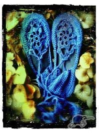 CROCHET SHOES *BLUE* | Trade Me
