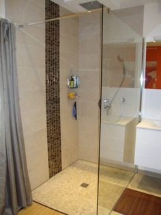 Salles de bains on pinterest white vanity showers and kid bathrooms for Photo douche italienne