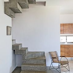 Love the mix of bare and painted concrete