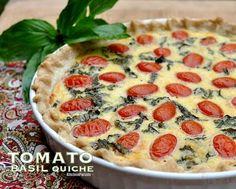 Light Tomato Basil Quiche Recipe: 6 punten
