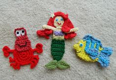 The Little Mermaid and Friends Appliques