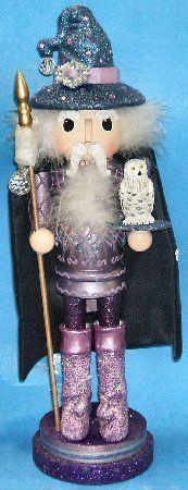Wooden Wizard Christmas Nutcracker