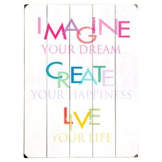 Imagine Your Dreams Wall Decor at Joss & Main