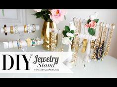 DIY Necklace & Bracelet Holder {Spring decor} ANNEORSHINE - YouTube