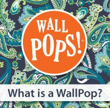 What is a WallPop, its art for your walls, if you can't paint but want some color, this is for you!