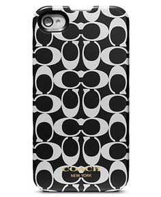 COACH SIGNATURE IPHONE 4 CASE - Coach Accessories - Handbags & Accessories - Macy's