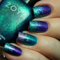 Sassy Shelly: Nails and Attitude: Ringing in the New Year with Zoya Sparkle shades and GLITTER! Shades, Nails Art, New Year, Colors, Gradient Nails, Nails Polish, Glitter Gradient, Sassy Shelly, Blue Nails