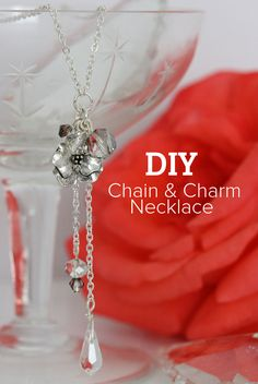 #DIY Chain Charm Necklace #Tutorial