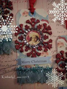 ArtJoyStuff christma tag, christma card, christmaswint craft, merri christma, snowflak