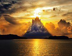 #QueFoto - beautiful sunset in sweden