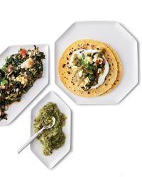 Scrambled Egg and Swiss Chard Tacos Recipe on Food & Wine