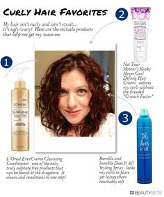 """""""Top 3 Products for Wimpy Wavy Hair - aka how I bring out the curl!"""" good to know. My hair is naturally wavy so I have always wanted to try products that really brought out the curls"""