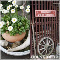 House No.12: Love the garden sign