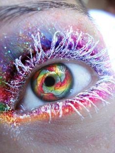 eye makeup, eyeshadow, color, candi, fairi, eye art, rainbow, eyelash, crazy eyes