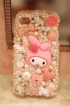 My Melody and Flower Swarovski IPhone 4/4s Case by HephziCreations, $110.00