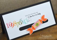 Countdown Invitation by Nichole Heady for Papertrey Ink (November 2012)