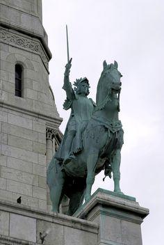 Paris, Montmartre, Basilika Sacre Coeur, Jeanne d'Arc (Joan of Arc)