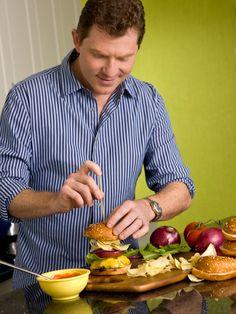 Crunchburger (aka the Signature Burger) Recipe : Bobby Flay : Food Network - FoodNetwork.com