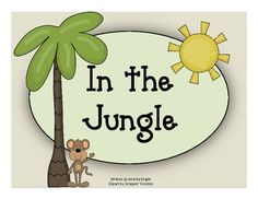 "ELL eBook:  ""In the Jungle""  {Predictable pattern, common sight words, color-coded pronouns, and high picture support make this e-book a great choice for emergent readers and/or ELL students.}  $1.00"