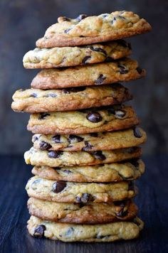 chocolate chips, choc chip cookies, chocol chip, cookie recipes, dessert