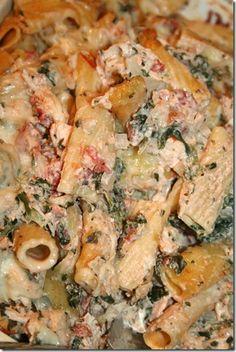 chicken and spinach bake.
