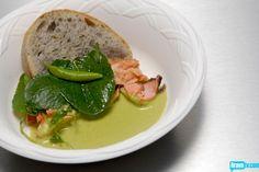 Sheldon Simeon's Green Tea & Chive Sourdough with Smoked Salmon & Pea Soup