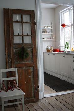 X-mas door in Beautiful Swedish home
