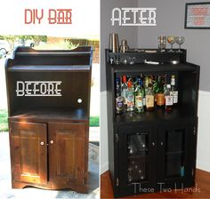 DIY Bar. Would love to do something like this in my dining room