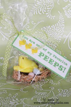 cute Easter gift PLUS free printables!  :)