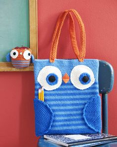 Owl Book Bag & Apple Cozy: free crochet patterns