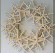 Beach Decor Starfish Wreath   Seashell Wreath by beachgrasscottage, $120.00