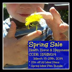 Spring sale - March 15th-25th ONLY! Health Home and Happiness Grain Free Meal Plans, GAPS Intro Guide, and more!