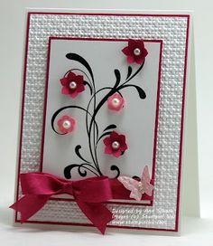stamp sets, pearl, pink flowers, sympathy cards, ann schach