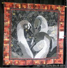 Whispers in the Dark quilt by Melinda Rushing found on Melinda Fulkerson's blog; color is very washed out.