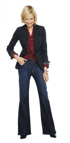 fashionable work wear, work clothes women casual, womens denim outfits, women work, style, work jeans, liz claiborn, work outfits, claiborn fashion