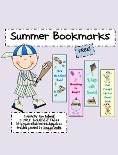 Summer Bookmarks {FREE}