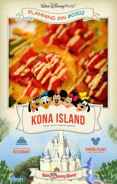 Walt Disney World Planning Pins: Kona Island