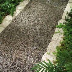 Neat Gravel Walkway - Garden Paths: 12 Easy-To-Imitate Stone Walkways - Bob Vila