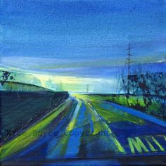 blue uk, art blue, art prints, slow lane, famous artist, 15 art, folksi blue