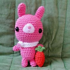Sweet Bunny & Carrot  PDF amigurumi crochet pattern by anapaulaoli, $3.00