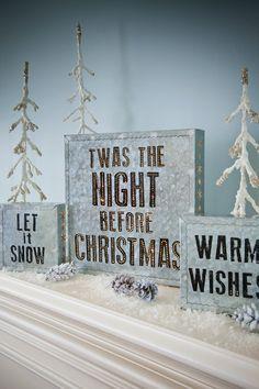 Christmas on a mantle or shelf