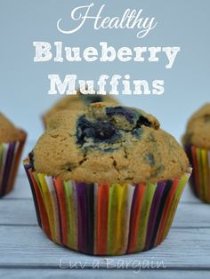 Healthy Blueberry Muffins - Clean Eating Recipe - LuvaBargain.com