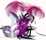 Venetian Carnival Masks with Feathers