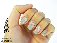 Floral Full Nail Sticker / Nail Warp (16 color options)