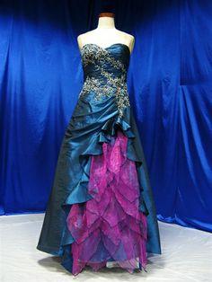 Peacock wedding dress.