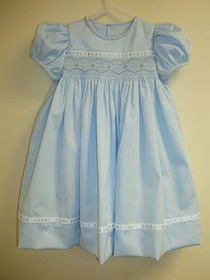 Pretty blue smocked dress