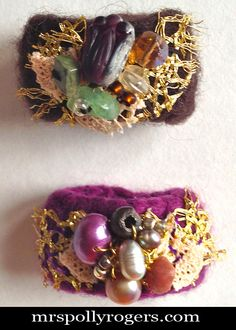 Click here to DIY Felted Rings from Orphan Gloves.  Easy & Quick Gift from  MrsPollyRogers.com