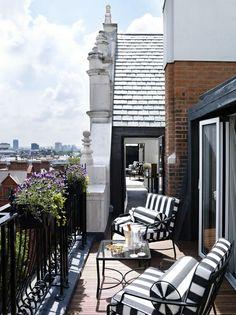 terrac, london home, chair, dream, balconies, patio, hous, outdoor spaces, stripe