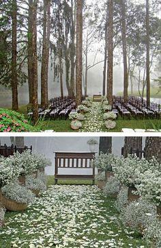 Wedding ceremony in the woods...